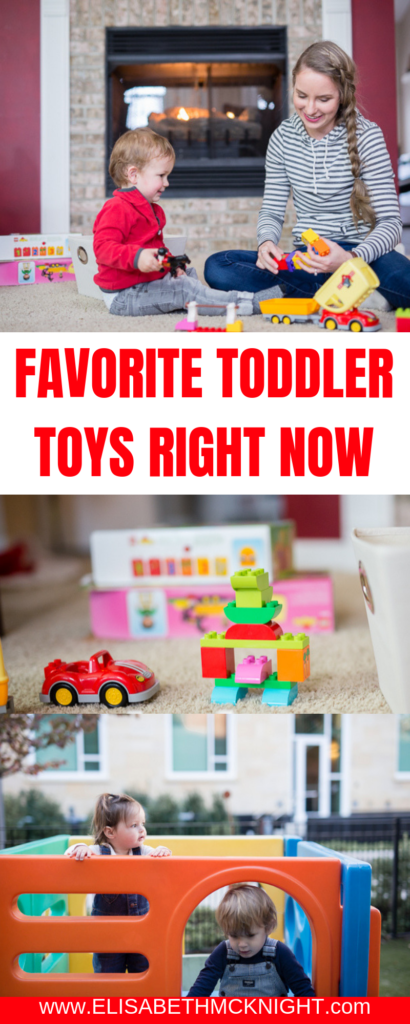 Sharing all of our favorite toddler toys right now. These toys are good for boys and girls and will provide hours of entertainment for your little ones! #toddlertoys #toddlergirltoys #toddlerboytoys #toyreview