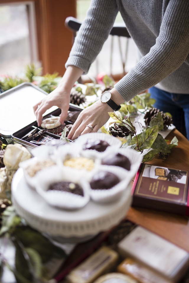 Cheese and Chocolate Party Spread by Boston lifestyle blogger Elisabeth McKnight
