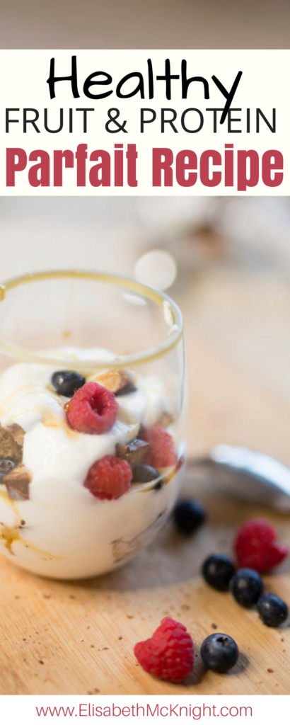 My favorite fruit parfait packed with protein - Perfect for a quick and healthy breakfast!
