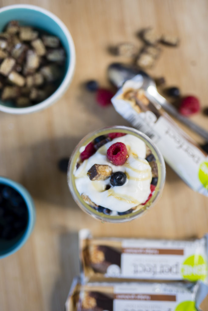 Fruit and Protein Parfait Recipe by popular Boston lifestyle blogger Elisabeth McKnight