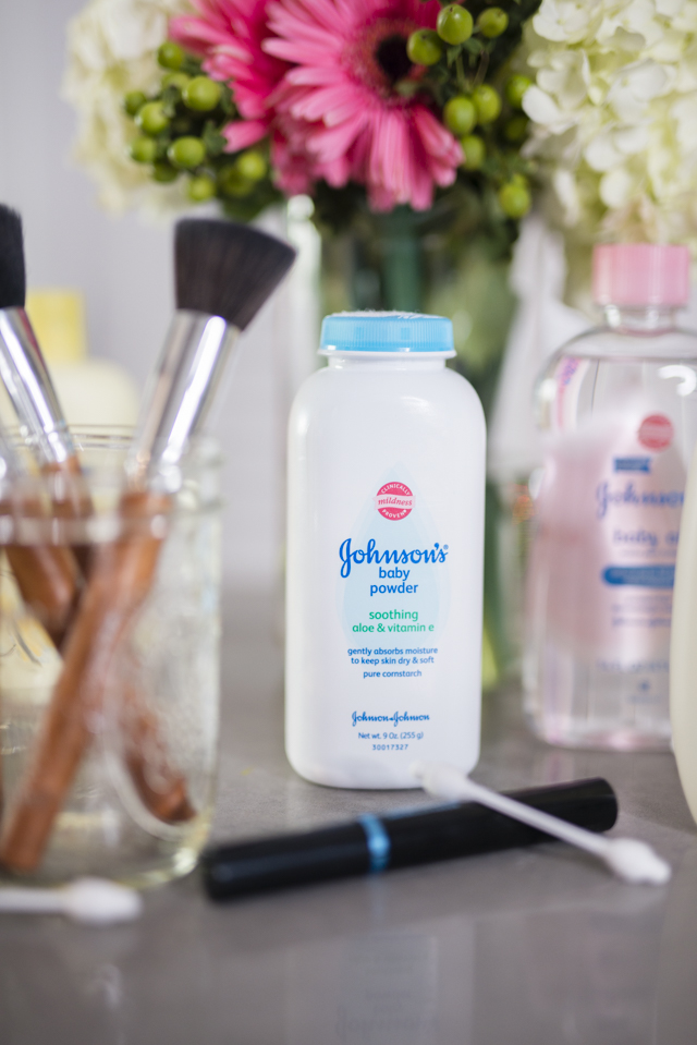 Johnson's Products Hack // Borrowing from the Babes by Boston mom blogger Elisabeth McKnight