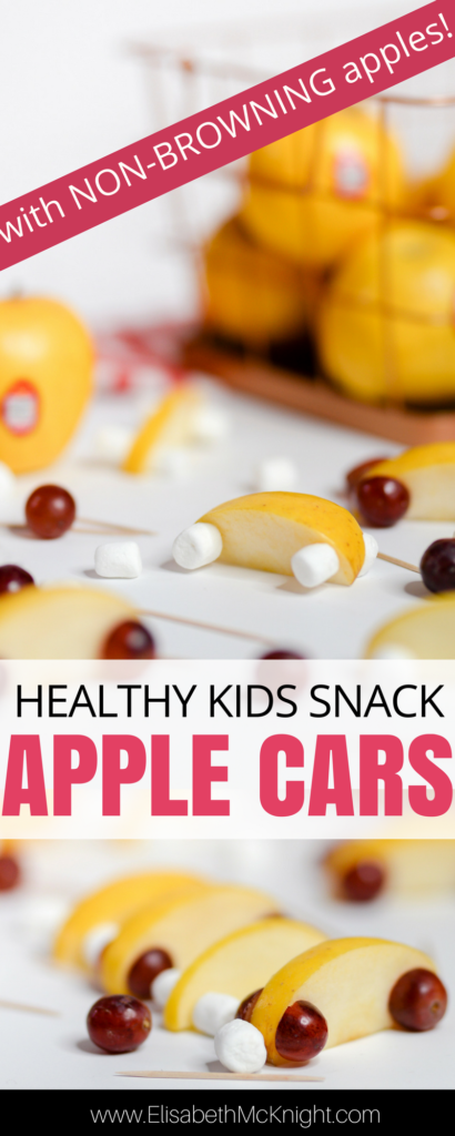 how fun are these apple cars? a fun way to get kids to eat fruit and a cute healthy snack for kids