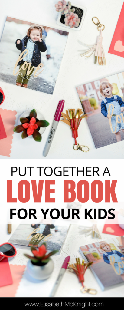 this fun love book diy is a great way to help kids feel close to family when they aren't there, or just remind them that you love them!