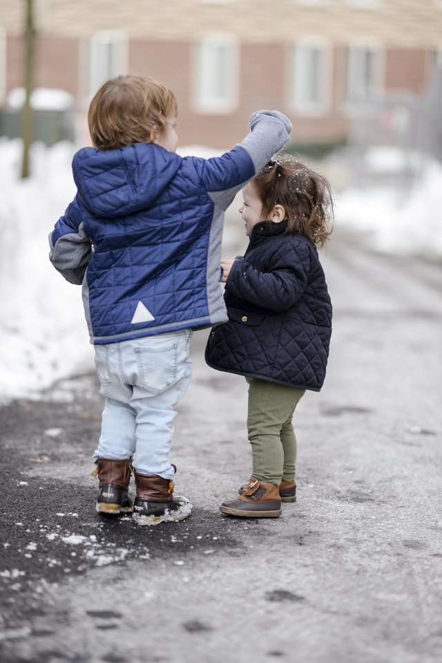 Best toddler snow jacket by popular Boston mom blogger Elisabeth McKnight