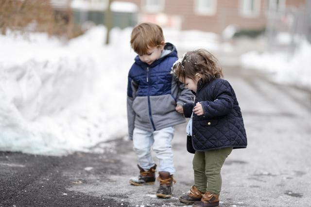 Best toddler snow jacket by popular Boston mom blogger Elisabeth McKnight