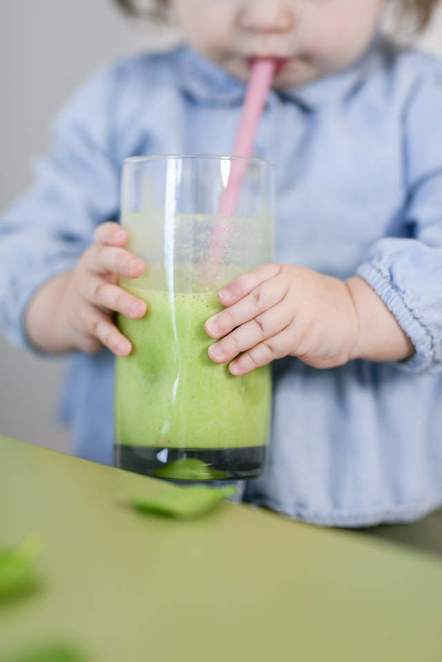 My toddlers favorite fruit and veggie smoothie recipe by popular Boston lifestyle blogger Elisabeth McKnight