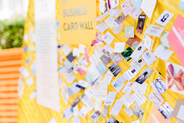 the business card wall at Alt Summit 2018
