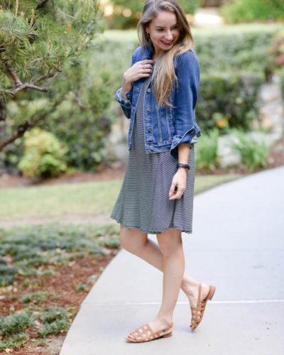 Summer Basics: Black and White Striped Dress