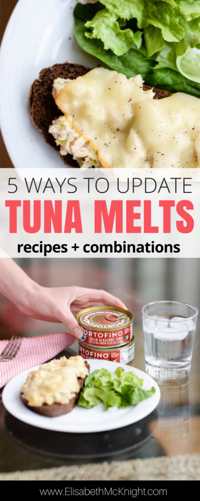 try this great tuna melt recipe and get creative with five ways to update the classic lunch favorite