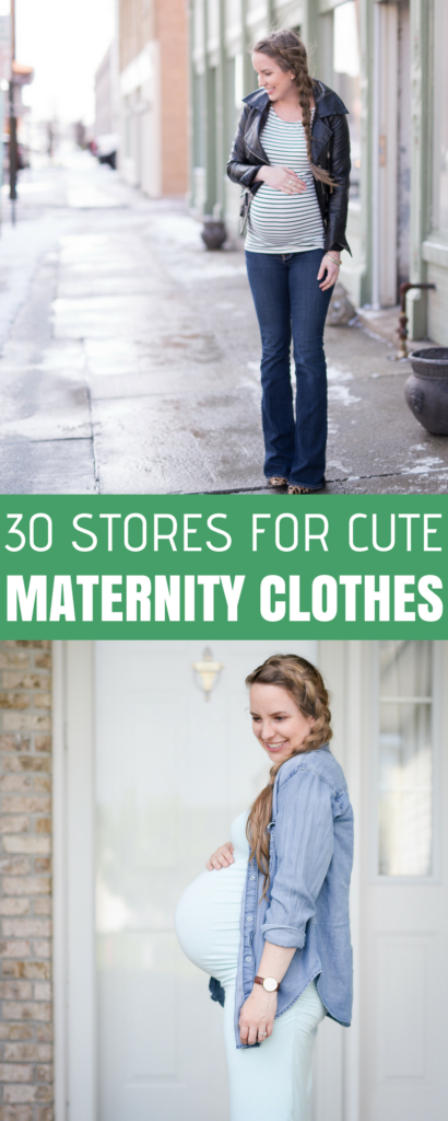 30 places to find cute maternity clothes
