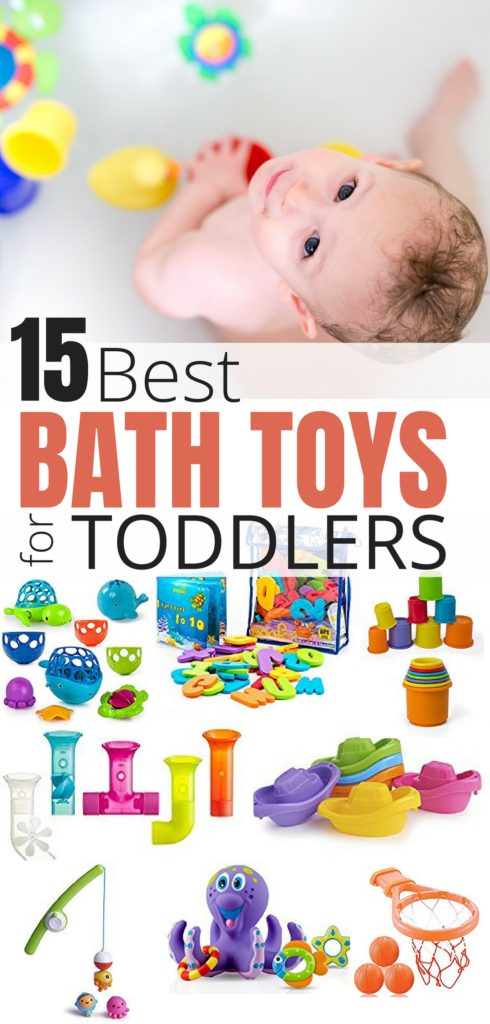 Check out this post for 15 bath toys your toddler will love!