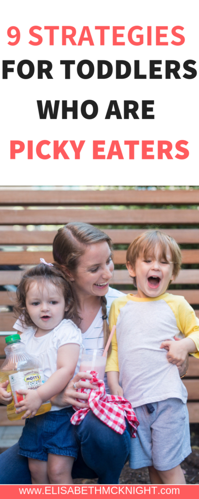 Do you have a picky eater on your hands? Here are 9 strategies to help your toddler try new foods.