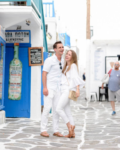 White on White in Mykonos