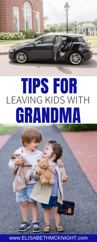 Sharing my tips for leaving your kids with grandparents! Leaving our kids can be stressful, but having a checklist in place to make sure everything is taken care of will help you enjoy your alone time more! #grandparents #leavingyourkidswithgrandparents #grandparentschecklist