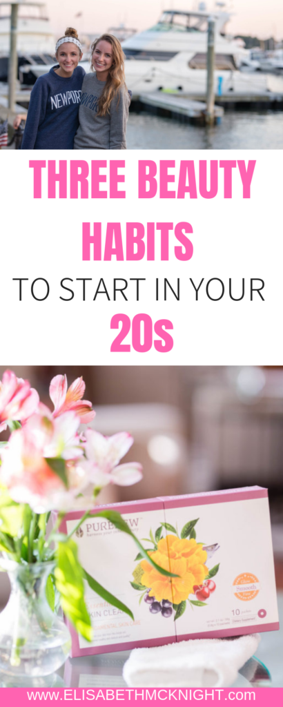 How you care for your skin now will determine your future skin quality. Click here to read 3 habits to start in your 20s for better skin now and later. #PURENEW #ad