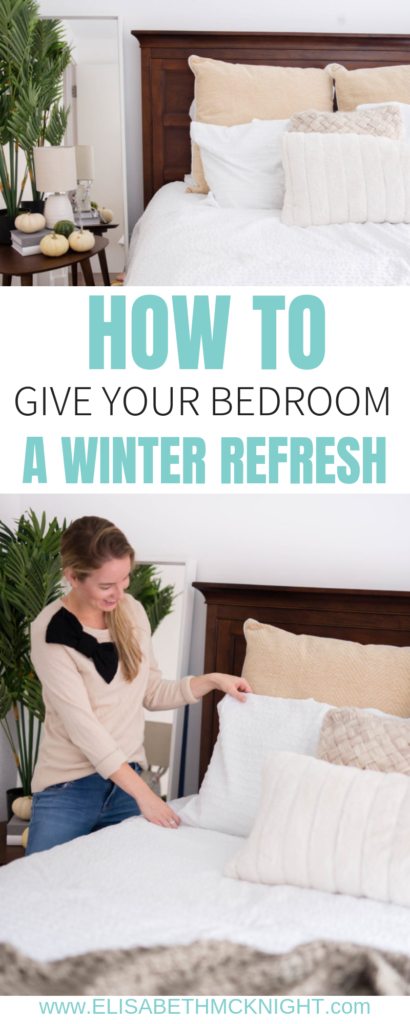Giving you all the tips for making your bedroom cozy and beautiful for these colder months. #beddingrefresh #beddingideas #cozymasterbedroom