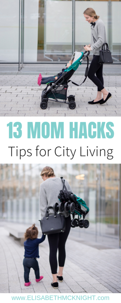 These city mom hacks + tips make life as a mom in a big city a little bit easier. #citymom #citymomstyle #momiform #reebokclassics
