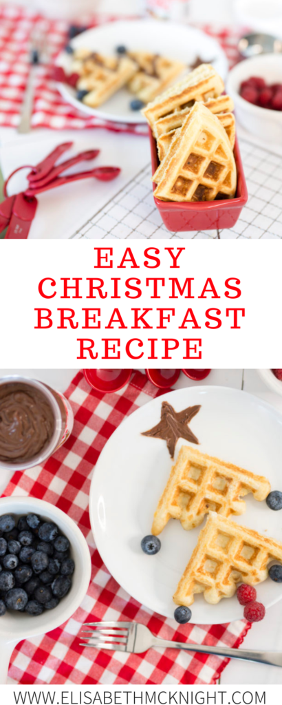 Looking for a great holiday breakfast? How cute would these Christmas tree waffles be for your kids on Christmas morning? @Nutella #Ad #ChristmasMorning #BreakfastIdeas