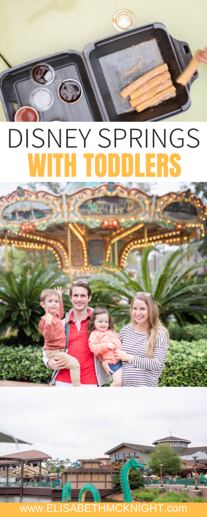 Sharing why I skipped Disney World with my toddlers and spent time at Disney Springs instead! #disneyspringsorlando #disneyspringsrestaurants #disneyspringspictures #disneyspringsfood #toddlervacationideas