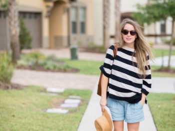 Maternity Style: Sunshine + Stripes