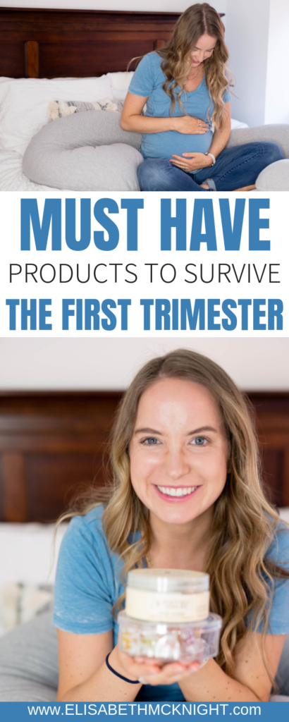 Sharing all of my must have products to survive the first trimester! #firsttrimester #pregnancysurvivalkit #pregnancytips
