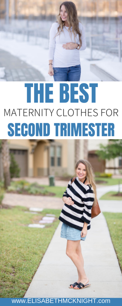 Sharing my most worn and loved pieces of maternity clothes for the second trimester! #maternityclothes #maternitystyle #bumpstyle #dressthebump #secondtrimester