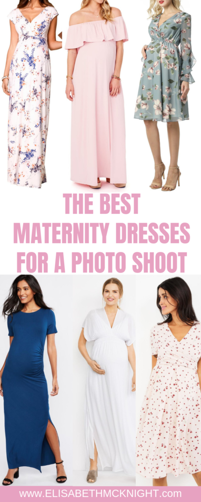 I am sharing the best places to buy maternity dresses for a photo shoot! #maternitystyle #maternitypictures #maternitydresses #maternityfashion