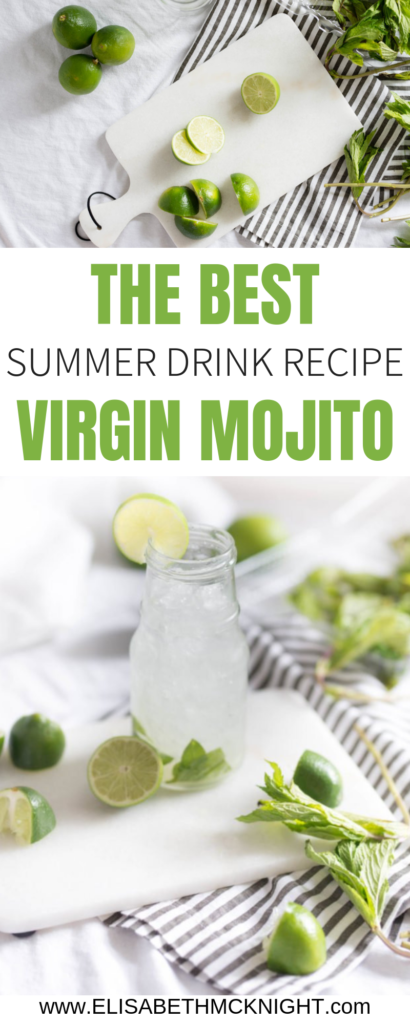 The best virgin mojito recipes! This is the perfect summer drink whether you are relaxing at home or hosting friends! #summerdrinkrecipe #virginmojito #virginmojitorecipe