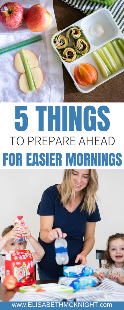 Five things to prepare the night before for easier back to school morning routines! #morningroutine #backtoschool #morningroutineforkids #ad @target @nabisco @kleenex @dannondanimals