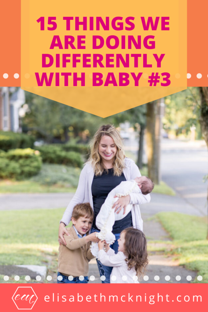 Sharing the things we are doing differently with our third baby. Tips and tricks we have learned and baby products that we actually use! #motherhood #newborn #momlife