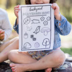 Free backyard scavenger hunt printable