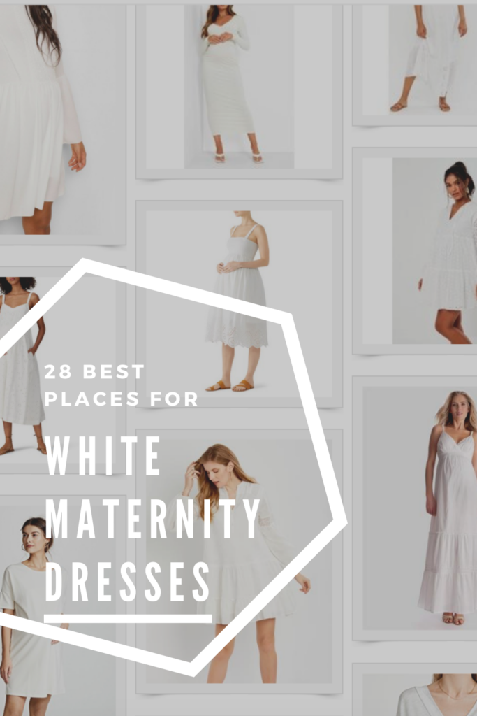 25 best places to shop for cute white maternity dresses (whether you're having your wedding or just need a go-to dress)