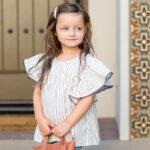 Mini Shein Kids Review: Striped Statement Top